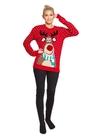 Czerwony sweter z  reniferem nos 3D (1)