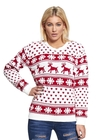 Biały świąteczny sweter z śnieżkami (1)