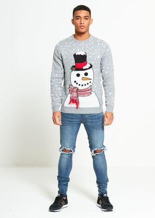 Świąteczny sweter z zabawnym bałwanem  (1)
