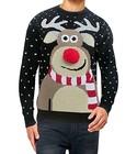 Sweter świąteczny z reniferem nos 3D (3)