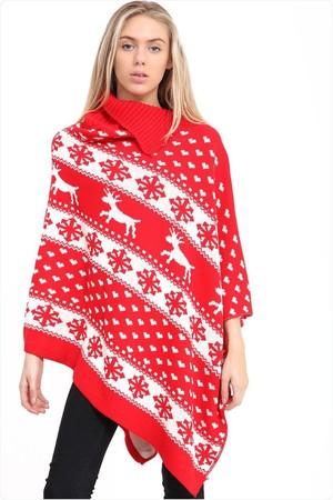 Czerwone świąteczne Poncho (1)