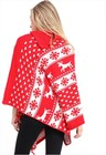 Czerwone świąteczne Poncho (2)