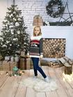 Dziecięcy czarny sweter świąteczny z reniferem (2)