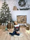 Dziecięcy czarny sweter świąteczny z reniferem (3)