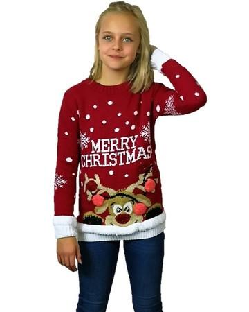 Dziecięcy sweter świąteczny  z reniferem Merry Christmas  (1)