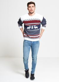 Sweter świąteczny wzór norweski
