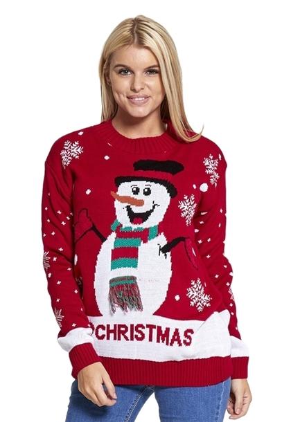 Sweter z bałwanem świątecznym  (1)
