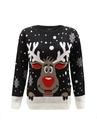 Sweter z reniferem dla dziecka - czarny  (4)