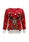 Sweter z reniferem dla dziecka - czerwony (3)