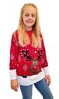 Sweter z reniferem dla dziecka - czerwony (1)