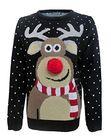 Świąteczny sweter dla dziecka renifer nos 3D (2)
