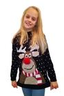 Świąteczny sweter dla dziecka renifer nos 3D (1)