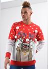 Sweter świąteczny z reniferem rudolf elementy 3D (6)