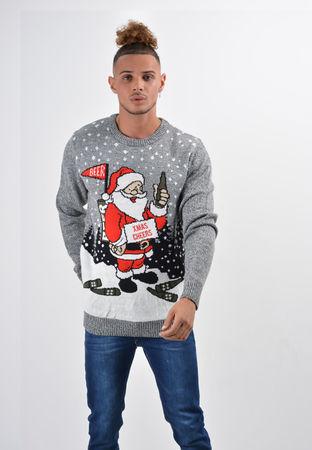 świecący świąteczny sweter z mikołajem migające LEDY (1)