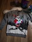 świecący świąteczny sweter z mikołajem migające LEDY (9)