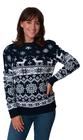 Norweski sweter świąteczny z reniferami - granatowy  (6)