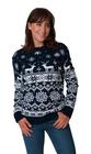 Norweski sweter świąteczny z reniferami kolor - granatowy (3)
