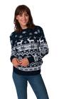 Norweski sweter świąteczny z reniferami kolor - granatowy (4)