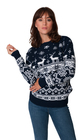 Norweski sweter świąteczny z reniferami kolor - granatowy (5)