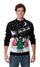 Czarny sweter świąteczny z choinką (1)
