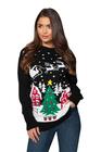 Czarny sweter świąteczny z choinką  (3)
