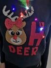 Granatowy sweter świąteczny z lampkami - świecący  (9)
