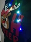 Granatowy sweter świąteczny z lampkami - świecący  (6)