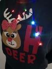 Granatowy sweter świąteczny z lampkami - świecący  (12)