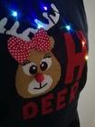Granatowy sweter świąteczny z lampkami - świecący  (4)