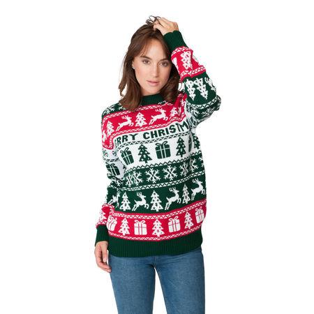 Sweter świąteczny wzór norweski kolor zielony (1)