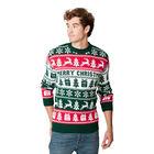 Sweter świąteczny dla niego wzór norweski kolor zielony  (3)