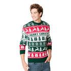 Sweter świąteczny dla niego wzór norweski kolor zielony  (4)