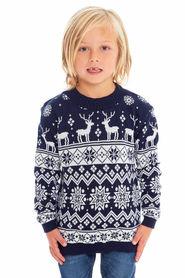 Sweter świąteczny dla dziecka w kolorze granatowym