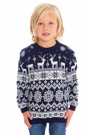 Sweter świąteczny dla dziecka w kolorze granatowym  (1)