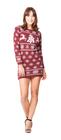 Sukienka świąteczna w renifery - wino (6)