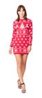 Sukienka świąteczna w renifery - kolor czerwony  (2)