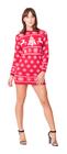 Sukienka świąteczna w renifery - kolor czerwony  (3)