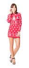 Sukienka świąteczna w renifery - kolor czerwony  (4)