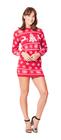 Sukienka świąteczna w renifery - kolor czerwony  (6)