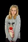 Dziecięcy sweter świąteczny z reniferem kolor -szary (1)