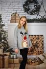 Dziecięcy sweter świąteczny z reniferem kolor -szary (3)