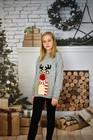 Dziecięcy sweter świąteczny z reniferem kolor -szary (4)