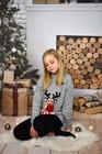 Dziecięcy sweter świąteczny z reniferem kolor -szary (5)