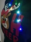 Granatowy sweter świąteczny z lampkami - świecący (13)