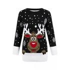 Czarny Sweter świąteczny z reniferem (2)