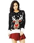 Czarny Sweter świąteczny z reniferem (1)